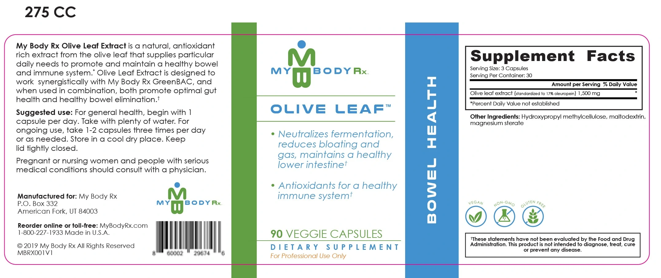 Olive Leaf – Bowel Health Ingredients