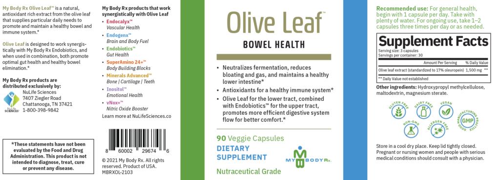 Olive Leaf Bowel Health Supplement